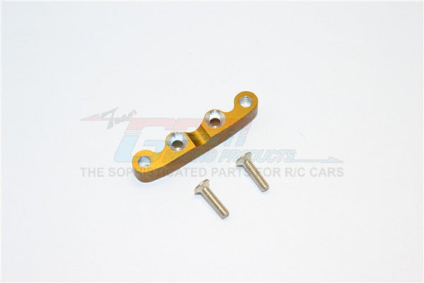 Kyosho Mini Inferno Aluminum Rear Arm Bulk For Front Gear Box With Screws - 1Pc Set Golden Black