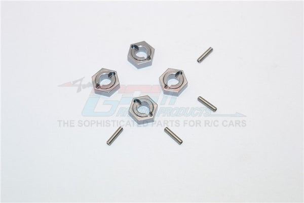 Kyosho Mini Inferno Aluminum Drive Adaptor With Pins - 4Pcs Set Gray Silver
