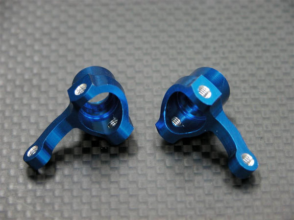 Kyosho Mini Inferno Aluminum Front Knuckle Arm - 1Pr Blue