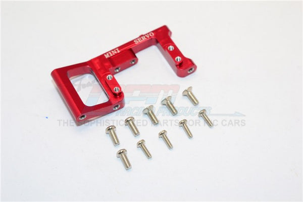 Kyosho Mini Inferno Aluminum Servo Mount With Screws (For Mini Servo) - 1Pc Set Red