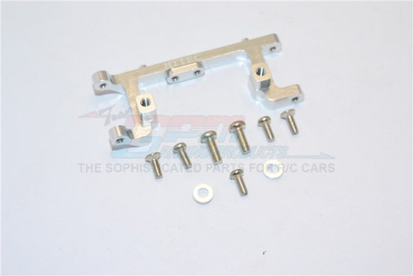 Kyosho Mini Inferno Aluminum Servo Mount With Screws & Shims (For Hitec Servo) - 1Pc Set Silver