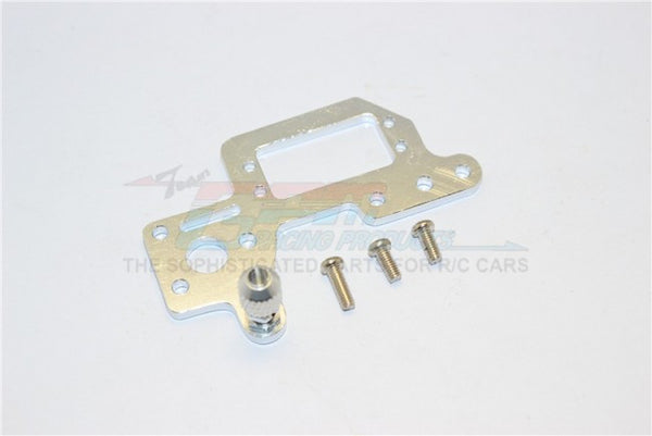 Kyosho Mini Inferno Aluminum Servo Mount Cover With Screws - 1Pc Set Silver