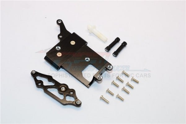 Kyosho Mini Inferno Aluminum Receiver Bottom Mount With Screws & Aluminum+Delrin Posts - 2Pcs Set Black