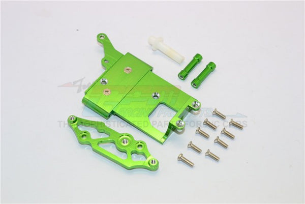 Kyosho Mini Inferno Aluminum Receiver Bottom Mount With Screws & Aluminum+Delrin Posts - 2Pcs Set Green