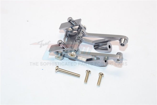 Kyosho Mini Inferno Aluminum Rear Wing Mount With Screws - 5Pcs Set Gray Silver
