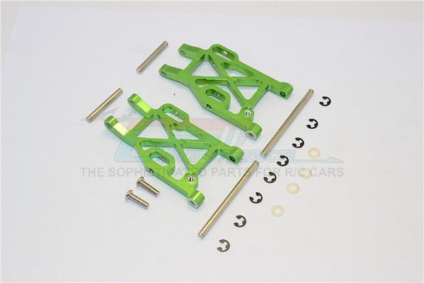 Kyosho Mini Inferno Aluminum Rear Lower Arm With E-Clips & Pins & Delrin Collars - 1Pr Set Green