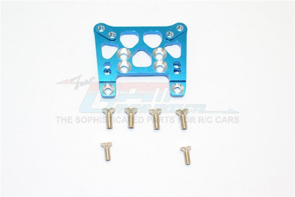 Kyosho Mini Inferno ST Aluminum Front Damper Tower With Screws - 1Pc Set Blue