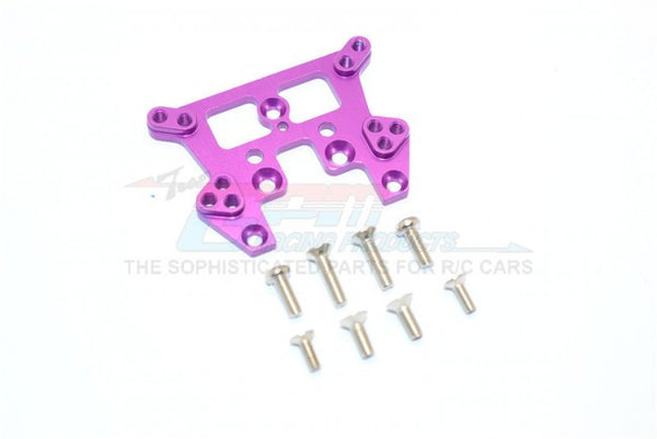 Kyosho Mini Inferno ST Aluminum Rear Damper Tower With Screws  - 1Pc Set Purple