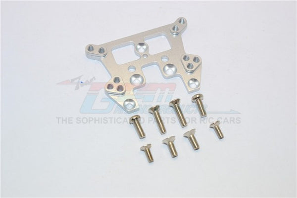 Kyosho Mini Inferno ST Aluminum Rear Damper Tower With Screws  - 1Pc Set Silver