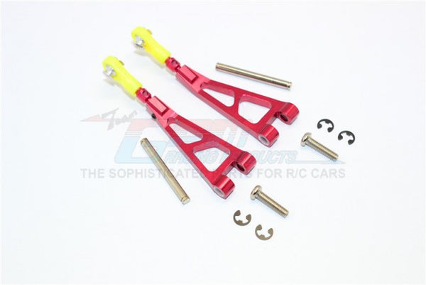 Kyosho Mini Inferno ST Aluminum Front Upper Arm With Pins & E-Cilps & Screws - 1Pr Set Red