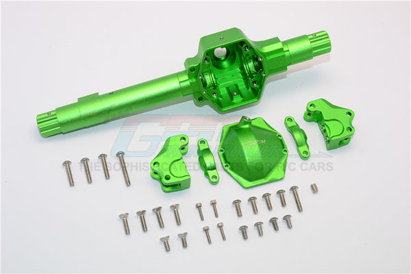 Axial SMT10 Grave Digger (AX90055) & RR10 Bomber (AX90048) Aluminum Front ?Or ?Rear Axle Housing ?Assembly (GPM? Upgrade Version) -? 6Pcs Set Green