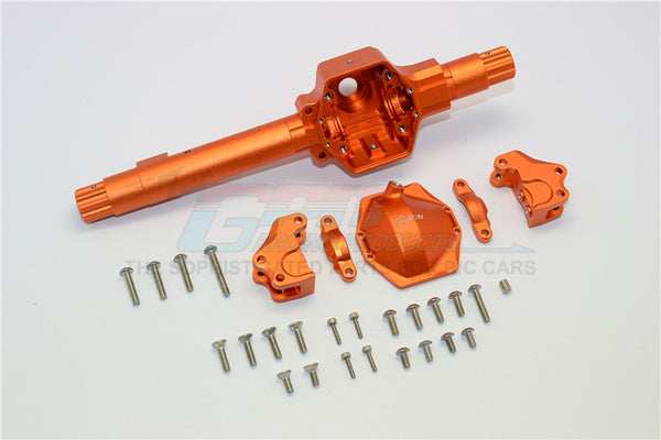 Axial SMT10 Grave Digger (AX90055) & RR10 Bomber (AX90048) Aluminum Front ?Or ?Rear Axle Housing ?Assembly (GPM? Upgrade Version) -? 6Pcs Set Orange