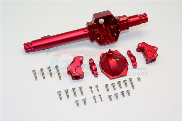 Axial SMT10 Grave Digger (AX90055) & RR10 Bomber (AX90048) Aluminum Front ?Or ?Rear Axle Housing ?Assembly (GPM? Upgrade Version) -? 6Pcs Set Red