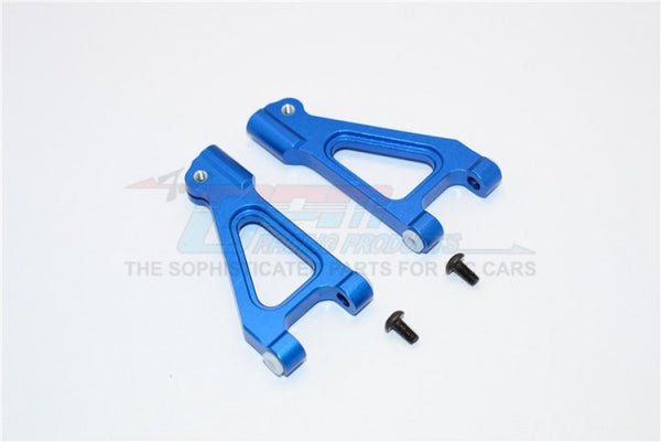Kyosho Inferno MP 7.5 Aluminum Front Upper Arm With Screws - 1Pr Blue