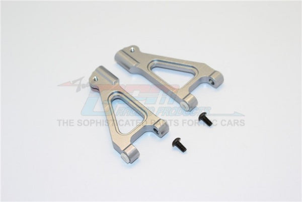 Kyosho Inferno MP 7.5 Aluminum Front Upper Arm With Screws - 1Pr Gray Silver