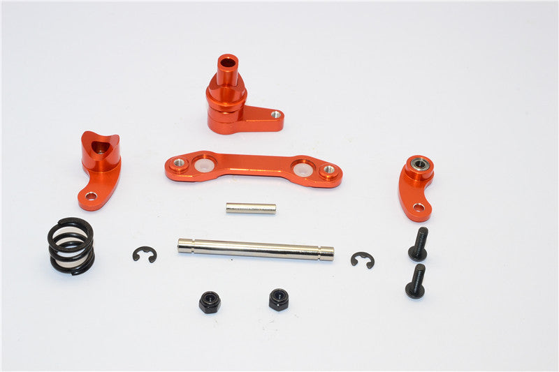 HPI Savage XS Flux Aluminum Steering Assembly With Bearing - 1 Set Orange
