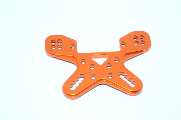 Team Losi Mini 8ight-T Truggy Aluminum Front Shock Tower - 1 Pc Orange
