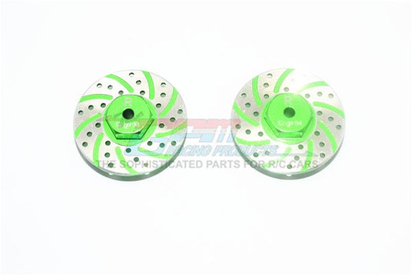 Axial Yeti Jr. Score Trophy Truck (AX90052) / Yeti Jr. Can-Am Maverick (AXI90069) Aluminum Rear Brake Disk With Silver Lining - 2Pc Set Green