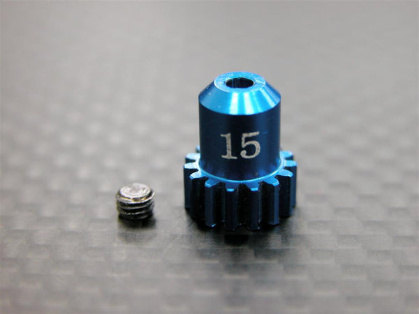 Kyosho Mini-Z AWD Aluminum Motor Gear (15T) With Screw - 1Pc Set Blue