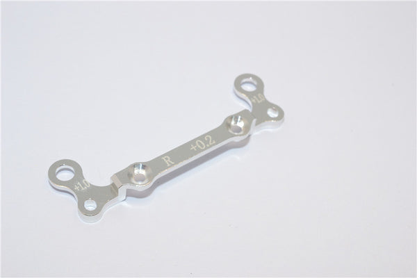 Kyosho Mini-Z AWD Aluminum Rear Knuckle Arm Holder (Toe In 0.2mm, Thick 1.0mm) GPM Design - 1Pc Silver