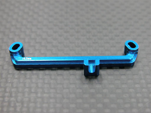 Kyosho Mini-Z AWD Aluminum Steering Plate (+0.2mm) - 1Pc Blue