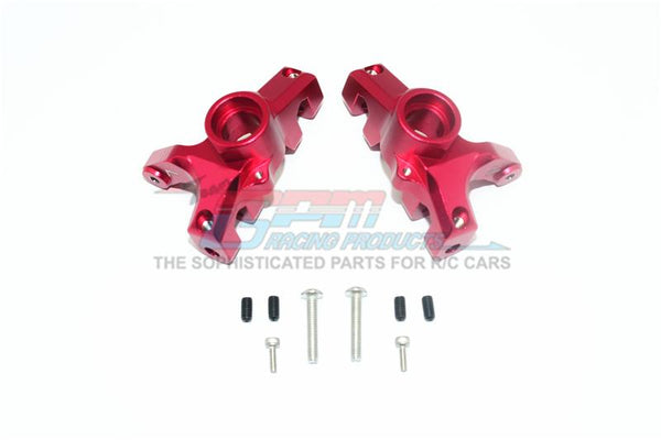 Losi 1/10 Rock Rey 4WD Rock Racer (LOS03009) Aluminum Front Knuckle Arms - 1Pr Set Red