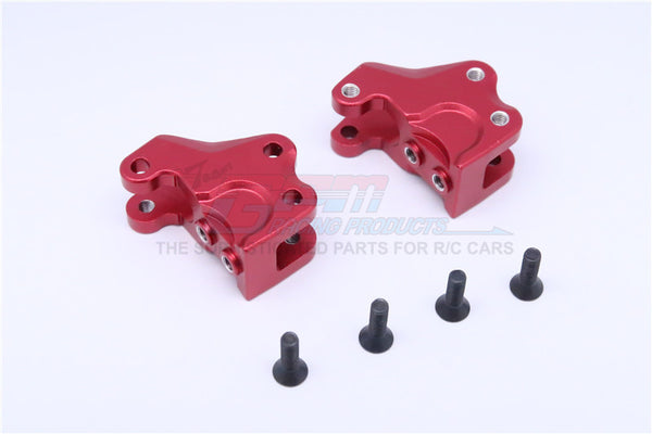 Axial RR10 Bomber & Wraith Aluminum Front/Rear Gear Box Components - 1Pr Set Red
