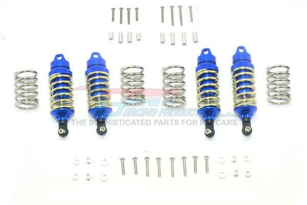 Traxxas Rustler 4X4 VXL (67076-4) Upgrade Parts Aluminum Front + Rear Shocks (Low Center Of Gravity Version) - 4Pc Set Blue
