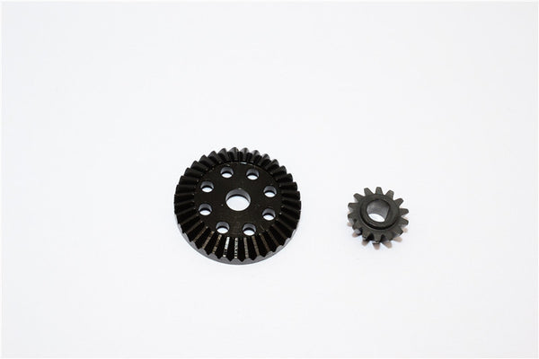 Team Associated RC18T Steel Ball Differential Gear (35T) & Input Gear (14T) - 2 Pcs Set Black