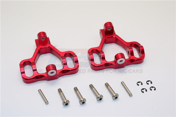 HPI Savage 21, X, XL, K4.6, Flux Aluminum Front/Rear C-Hub With Steel King Pin & Screws & Washers - 1Pr Set Red