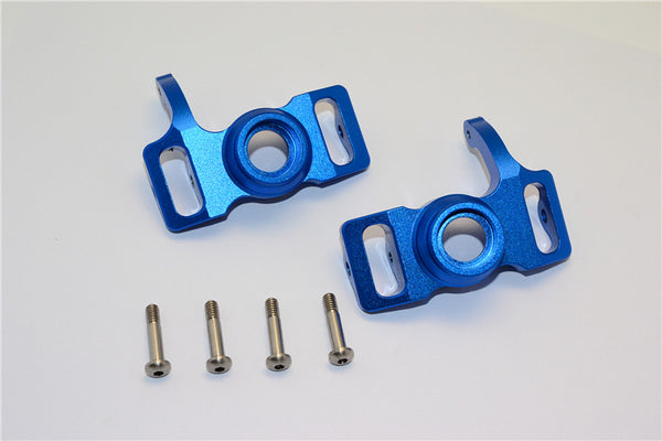 HPI Savage 21, X, XL, K4.6, Flux Aluminum Front/Rear Steering Block With Screws & Washers - 1Pr Set Blue
