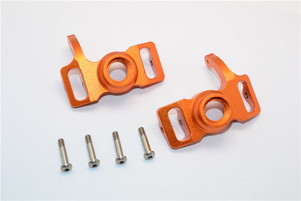 HPI Savage 21, X, XL, K4.6, FLUX Aluminum Front/Rear Steering Block With Screws & Washers - 1Pr Set Orange