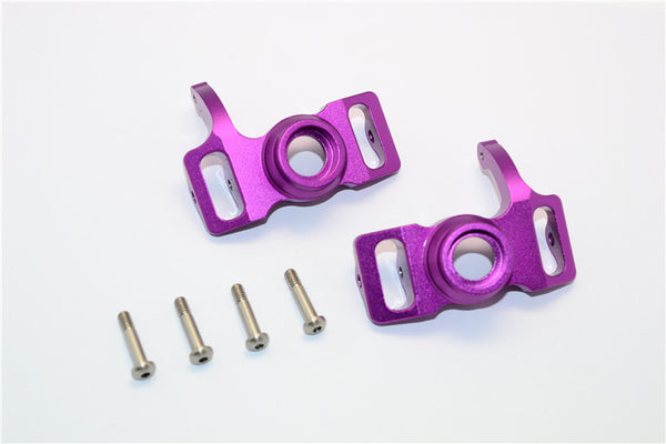 HPI Savage 21, X, XL, K4.6, Flux Aluminum Front/Rear Steering Block With Screws & Washers - 1Pr Set Purple