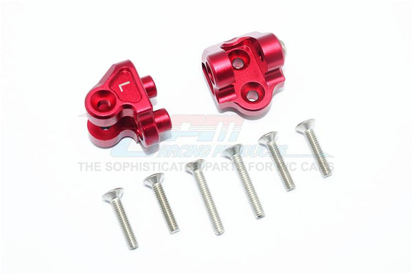 Losi 1/6 Super Baja Rey 4X4 Desert Truck Aluminum Upper Axle Mount Set For Suspension Links - 1Pr Set Red