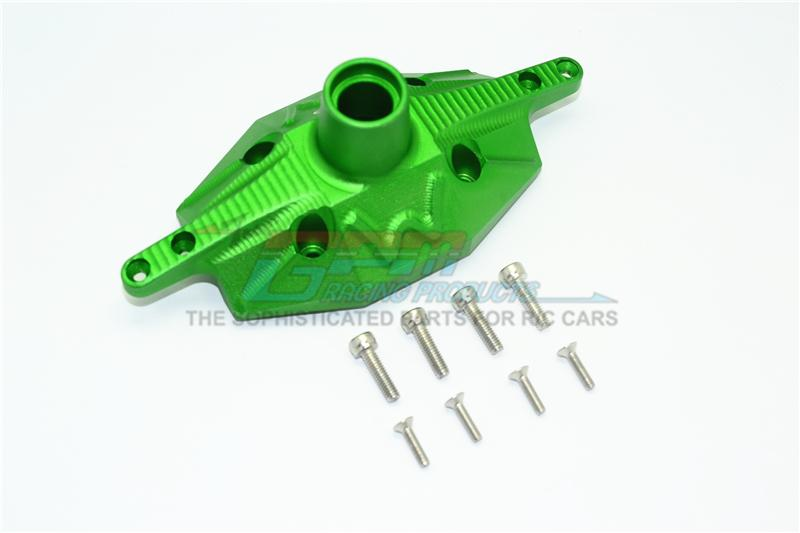 Losi 1/6 Super Baja Rey 4X4 Desert Truck Aluminum Rear Axle Case Cover - 1Pc Set Green
