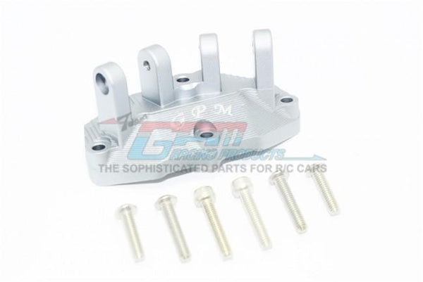 Losi 1/6 Super Baja Rey 4X4 Desert Truck Aluminum Mount For Upper Gearbox Rear Upper Suspension Links - 1Pc Set Silver