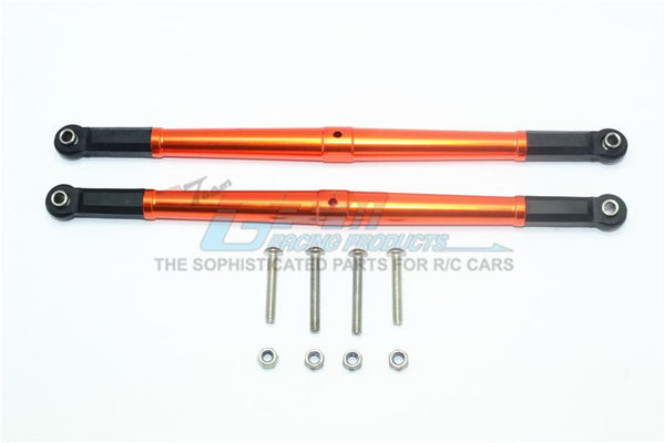 Losi 1/6 Super Baja Rey 4X4 Desert Truck Aluminum Adjustable Rear Upper Chassis Link Tie Rods - 1Pr Set Orange
