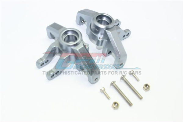 Losi 1/6 Super Baja Rey 4X4 Desert Truck Aluminum Front Knuckle Arms - 1Pr Set Gray Silver