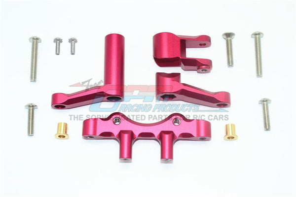 Losi 1/6 Super Baja Rey 4X4 Desert Truck Aluminum Steering Assembly - 1 Set Red