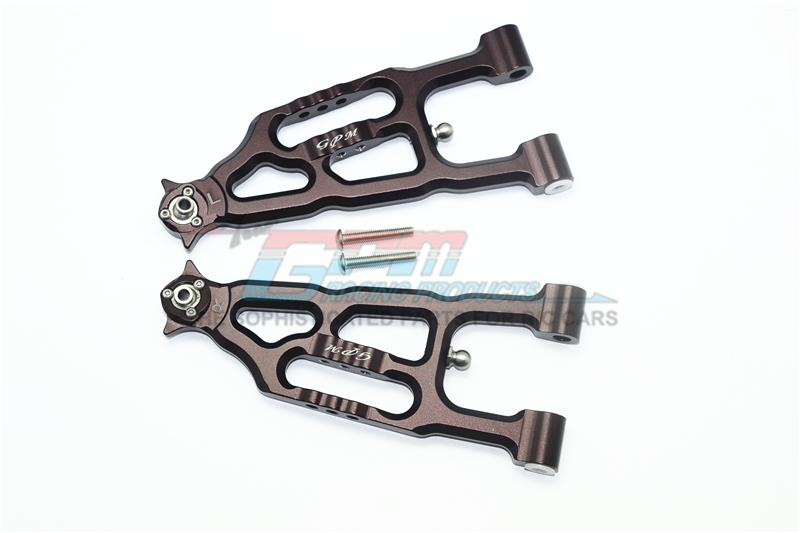 Losi 1/6 Super Baja Rey 4X4 Desert Truck Aluminum Front Lower Suspension Arm - 1Pr Set Brown
