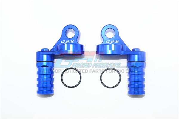 Losi 1/6 Super Baja Rey 4X4 Desert Truck Aluminum Damper Cap With Piggyback Reservoirs - 4Pc Set Blue