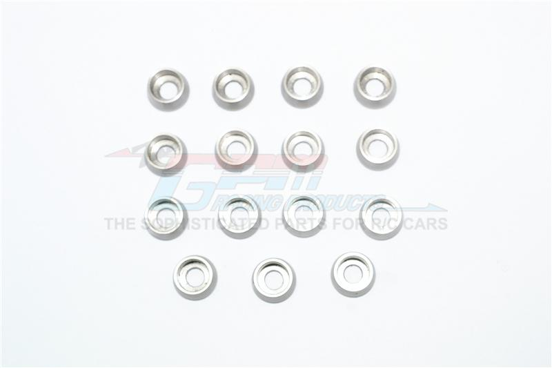 Stainless Steel 4mm Hole Cup Screw Meson - 15Pc Set