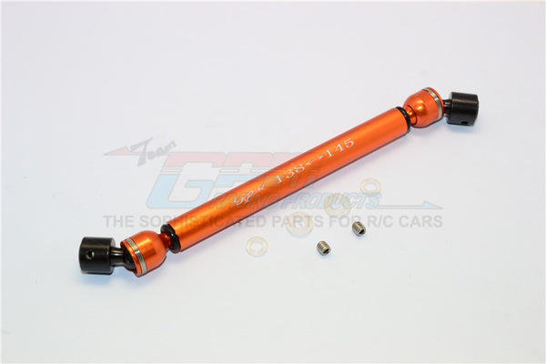 Tamiya CC01 Steel+Aluminum Center Drive Shaft (138mm-145mm) - 1Pc Set Orange