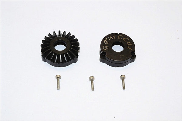 Tamiya CC01 Steel Rear Differential Outer Gears - 1Pr Set Black