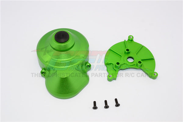 Axial SCX10 & Wraith Aluminum Transmission Spur Gear Case - 2Pcs Set Green