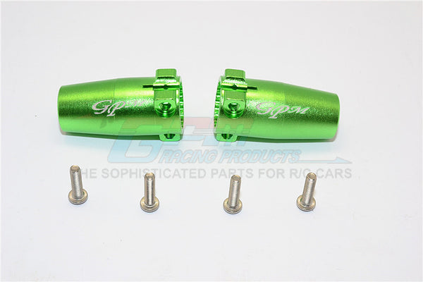 Axial SCX10 II (AX90046, AX90047) Aluminum Rear Axle Adapters - 1Pr Set Green