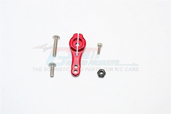 Axial SCX10 II (AX90046, AX90047) Aluminum 25T Servo Horn - 1Pc Set  Red