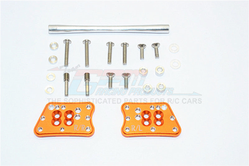 Axial SCX10 II (AX90046, AX90047) Aluminum Rear Adjustable Mount For Original Shock Tower - 1Pr Set Orange