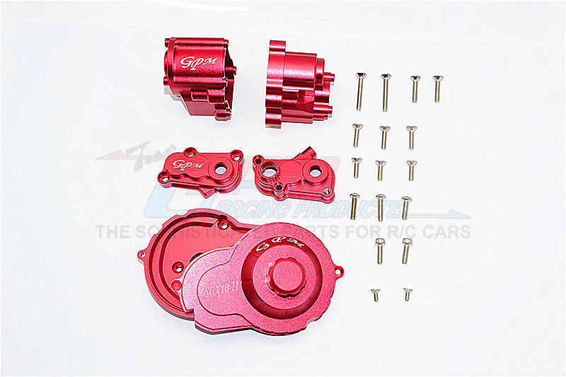 Axial SCX10 II (AX90046) Aluminum Center Gear Box - 1 Set Red