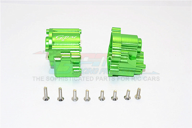 Axial SCX10 II (AX90046) Aluminum Transmission Case - 2Pcs Set Green